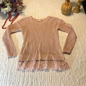Pink Republic Girls pink Sweater Size M 10/12